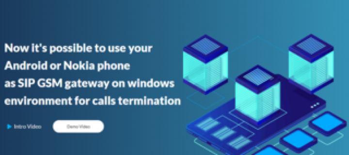 SMS and SIP calls termination using phones gateway